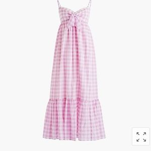 J. Crew Beach Maxi dress with tie_front gingham